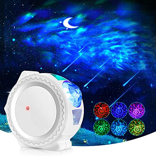 Proiettore Stelle LED, lampada stelle bambini con Controllo Touch e Controllo Suono Angolo Regolabile Decorazione per Casa Festa Matrimonio Compleanno Natale (bianca)