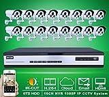 Gowe 6TB HDD 16 CH H.264 NVR Système de surveillance ONVIF