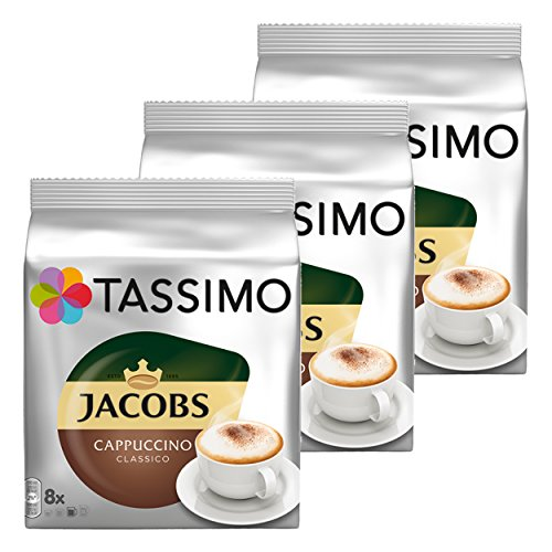 Tassimo Jacobs Cappuccino, 3er Pack, 3 x 16 T-Discs (8 Portionen)