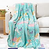 YOSHOOT Blanket Glow in The Dark, Unicorn Throw Blanket for Girls and Boys, 50 x 60 Inches Soft Plush Thicken Blankets, All Seasons Luminous Blankets, Unicorns Gifts for Girls Kids