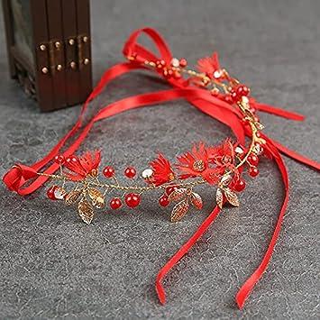 Taosheng Elegante diadema para novia, accesorios para el pelo de perlas de imitación, corona de novia, accesorios para el cabello de boda (color metal: 7)