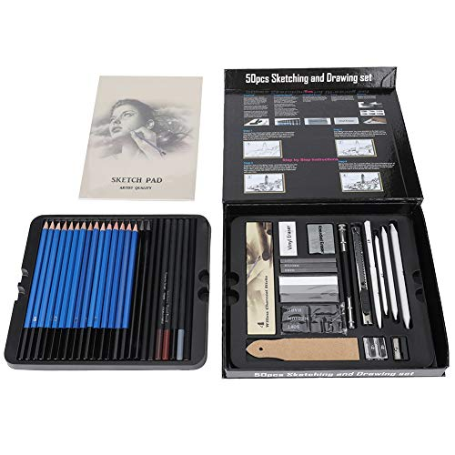 50pcs Sketch Pencil Set Artista profesional Sketch And Drawing Set Charcoal Pencil Art Brush Set Pencil Sketch Charcoal Stick Art Tool