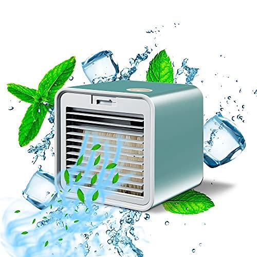 Mini ventilador de aire acondicionado portátil, purificador de aire de espacio personal, ventilador de refrigeración por aire USB, ventilador de refrigeración de escritorio para oficina en casa