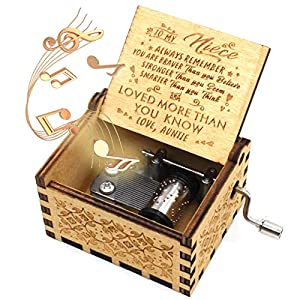 PRECIOUS GIFT - We have a meaningful message engraved inside of each music box. This wooden floral music box is a gorgeous present anyone could wish for, perfect gifts for birthday, holiday, anniversary, wedding, Mother's Day, Christmas, Valentine's ...