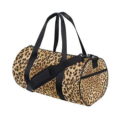 WowPrint, borsa sportiva da palestra, stile vintage, stampa leopardo, impermeabile, borsa da yoga, borsa da viaggio per adulti, uomini e donne