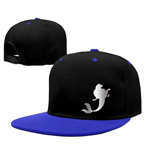 Hittings Little Mermaid Platinum Style Baseball Snapback Cap Red Royalblue