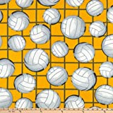 Lux Anti-Pill Fleece Volleyball Gold, Fabric by the Yard