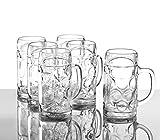Stölzle Oberglas ISAR Maßkrug 0,5 l- Original Biermaßkrug Oktoberfest, Bierglas, Tradition, Augenkrug, 6 Stück, spülmaschinenfest, hochwertige Qualität - 5