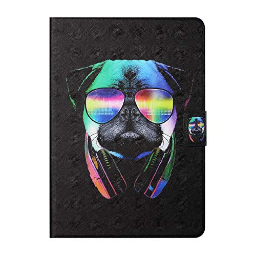 Tedtik for Samsung Galaxy Tab A7 10.4' 2020 Case (SM-T500/ T505/ T507), PU Leather Slim Lightweight Protective Hard Cover - Dog