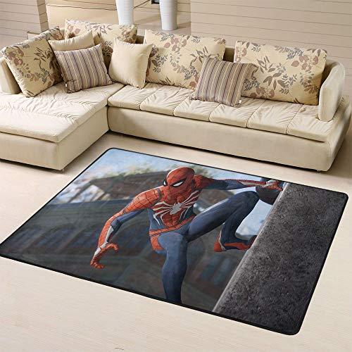 Zmacdk Tapis Spiderman pour salon, extérieur, terrasse, facile à nettoyer, pour chambre d