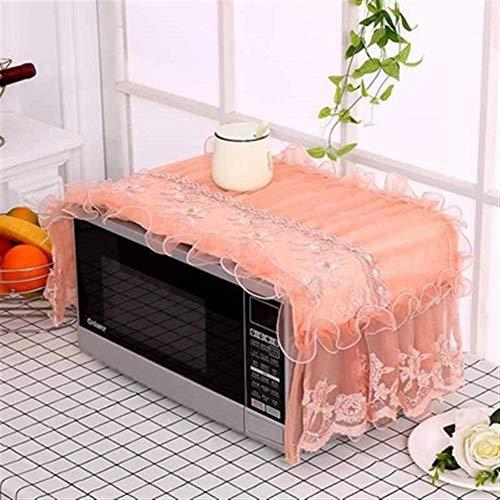 47-B Horno De Microondas De Impresión De Encaje, Cocina Pequeña Decoración De Electrodomésticos (Color : D)