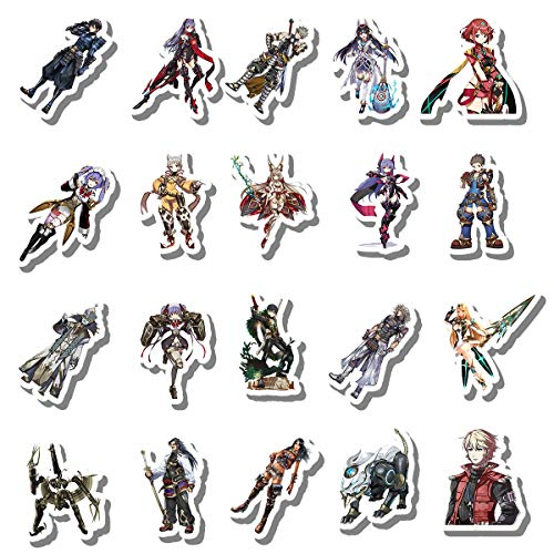 20 PCS Stickers Pack Xenoblade Aesthetic Chronicles Vinyl 2 Colorful Waterproof for Water Bottle Laptop Bumper Car Bike Luggage Guitar Skateboard