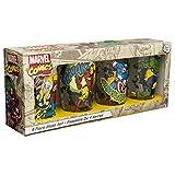 Zak Designs MRTI-4241 Marvel Comics Retro Glass Tumbler (Set of 4), 16 oz, Multicolor