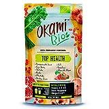 Okami Bio'Top Health' Superfood Powder Mix 150gr   Mezcla orgánica de Zumo de granada, Bayas de Goji, Shiitake, Reishi, Maitake, Col Rizada, Espirulina, Algas Klamath - 150gr.