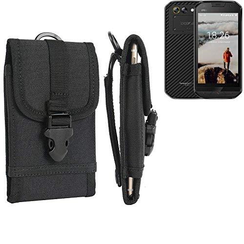 K-S-Trade® Handyhülle Für Doogee S30 Gürteltasche Handytasche Gürtel Tasche Schutzhülle Robuste Handy Schutz Hülle Tasche Outdoor Schwarz