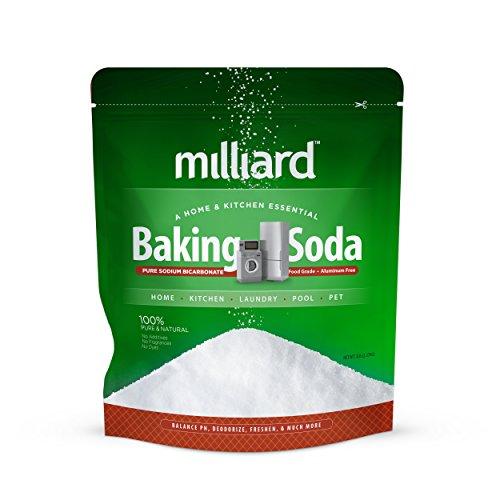 Milliard 5lbs Baking Soda / Sodium Bicarbonate USP - 5 Pound Bulk Resealable Bag