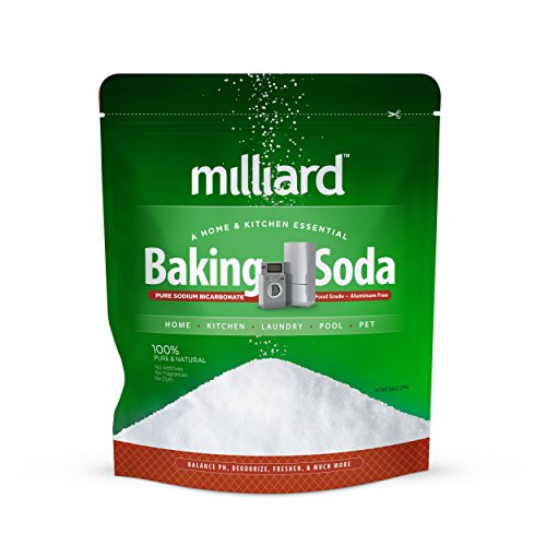 Milliard 5lbs Baking Soda / Sodium Bicarbonate USP - 5 Pound Bulk Resealable Bag