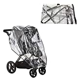 Safe-O-Kid Waterproof Rain Cover, Wind Shield Cover for Baby Pram/Strollers, Transparent