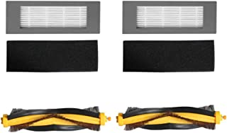 Dolloress Filters/Side Brush Replacement Compatible with Ecovacs DEEBOT OZMO 610 Robot Sweeper Accessory Parts