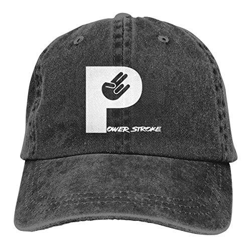 huatongxin Blk Powerstroke Shocker Hand Cowboy Caps Dad Sombrero de béisbol Mujer Hombre Negro