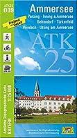 Ammersee 1 : 25 000: Penzing, Inning a. Ammersee, Geltendorf, Tuerkenfeld, Windach, Utting am Ammersee