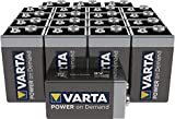 VARTA Power On Demand - Pilas alcalinas 9 V / E-Block / 6LR61, pack de 20 unidades