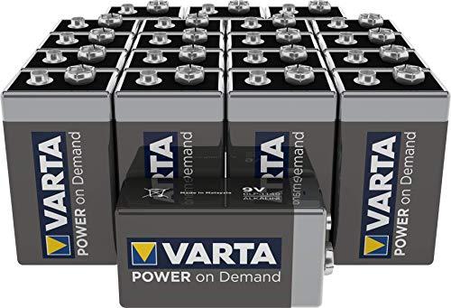 VARTA Power on Demand 9V block i storpack (20-pack - smart, flexibelt och kraftfullt för den mobila konsumenten - t.ex. för Smarta Hem-enheter, rökdetektor, brandvarnare)