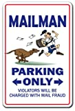 Mailman Sign   Indoor/Outdoor   Funny Home Décor for Garages, Living Rooms, Bedroom, Offices   SignMission Parking Mail Letter Carrier Postal Gift Usps Post Office Stamps Sign Wall Plaque Decoration
