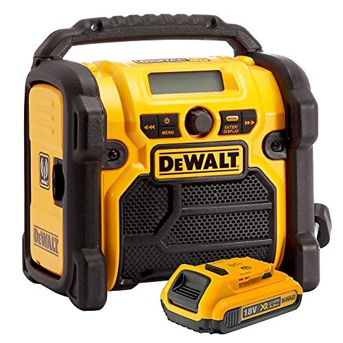 DeWALT DCR020 240V DAB Digital Jobsite FM Radio with 2.0Ah DCB183 Battery