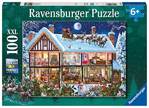 Ravensburger Natale in Casa Puzzle, 100 Pezzi XXL, Colore Multicolore, 12996