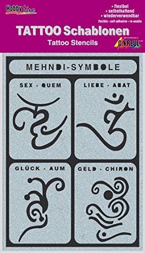 Kreul Hobby Line Tattoo sjabloon Mehndi-symbolen, 1 stuk