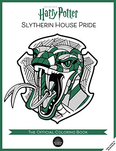 Slytherin House Pride: The Official Coloring Book: (gifts Books for Harry Potter Fans, Adult Coloring Books)