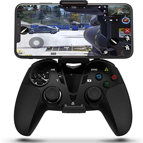 DarkWalker PS4 Dual Vibration Wireless Controller, Call of Duty Mobile Controller Gamepad for iOS 13 or later/Android OS 10 or later/PC/PlayStation 4 Support MFI-Compatible Games