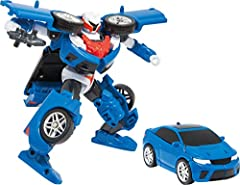 "Tobot Y, the midsize car based on a real-world vehicle! Figure converts from robot mode to car mode and back Includes 1 figure, 2 accessories (1 Tokey for transformation, Laser Gun) Quick & Easy transforming steps Figure size: 6"" / Age: 4 Years +"