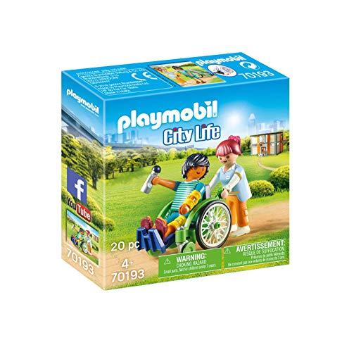 PLAYMOBIL City Life 70193 Paciente en Silla de Ruedas, A Partir de 4 años