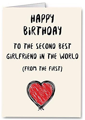 Tweede Beste Vriendin in De Wereld - Grappige Premium Kwaliteit Verjaardagskaart