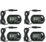 GuDoQi Aquarium Thermometers, 4 Pack Digital Water Thermometer for Fish Tank, Aquarium, Marine Reptile Habitat Temperature