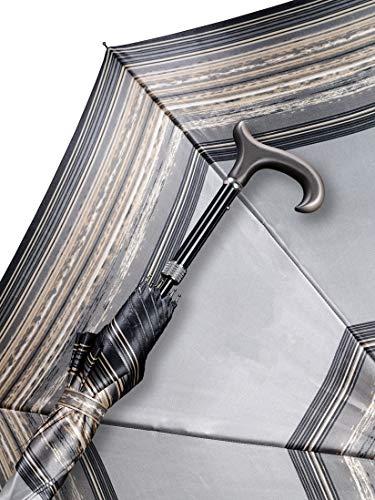Regenschrim Stützschirm Silberstreif Farbe Silbergrau Größe 4-fach Höhenverstellbar Von 85cm Bis 94cm Belastbar Bis 100kg