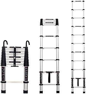 Step Stool HTTTD Telescopic Ladder - Aluminum Alloy Extension Ladder, Folding Ladder, Thickening Engineering Attic Ladder,...