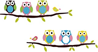 Potelin Premium Quality 1 Pack Owl Wall Stickers DIY Wallpaper Art Mural Home PVC Decor Decal for Living Room Bedroom Kitchen Kids Room