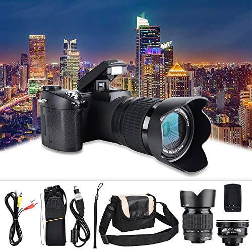 Cámara Digital Full HD, D7100 33MP Pantalla TFT LCD de 3.0 Pulgadas 24X Zoom LED Cámara Digital DSLR 1080P 30Fps Video Videocámara con Lente Gran Angular 0.5X y 128MB de Almacenamiento