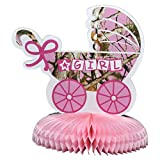 Havercamp Baby Girl Camo Party Table Decoration Centerpiece ('It's A Girl' , 12.5' x 10.5', Next Vista Camo) Gender Reveal Party Collection