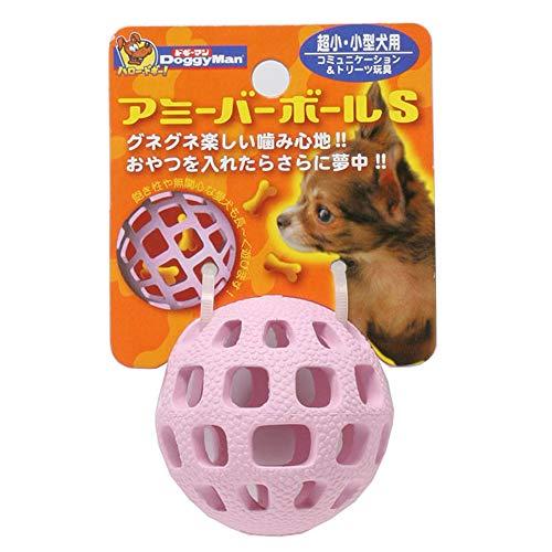 ドギーマン犬用おもちゃアミーバーボールピンクSサイズ