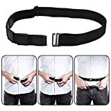Easy to Use: The belt-style shirt stay tucker belt (shirt belt) is the easiest shirt stay you'll ever use, and takes only a few seconds to put on each morning.The rubber grips and a button slot guarantee your shirt to stay tucked, keeping it low and ...