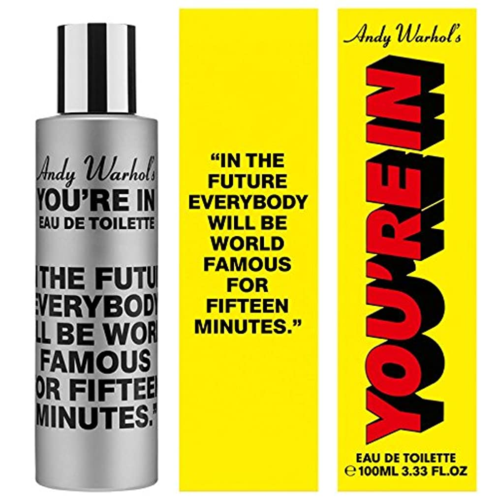 引き潮カリング強要Andy Warhol's You're In (アンディー ウオーホルズ ユーアー イン) 3.3 oz (100ml) EDT Spray