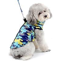 SELMAI Camuflaje Chaquetas Perros Pequeño Medianos Ropa para Gatos Invierno Chihuahua Abrigos con Anillo en D para Perros Cachorros Yorkshire Caminar al Aire Libre Azul XS