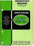 RJD-OM-MI-947 John Deere Van Brunt Model B Grain Drill Operators Manual & Parts Manual