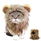 HAMISS Lustiges süßes Haustierkostüm Löwenmähne Perücke Kappe für Katze Hund Halloween Weihnachten Kostüm mit Ohren Haustier Kleidung