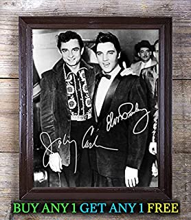 Elvis Presley Johnny Cash Million Dollar Autographed 8x10 Photo Reprint #60 Special Unique Gifts Ideas for Him Her Best Friends Birthday Christmas Xmas Valentines Anniversary Fathers Mothers Day