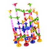 F Fityle Marble Run 75 Tubos Y Pista 30 Canicas Ball Creative Building Toy Playset
